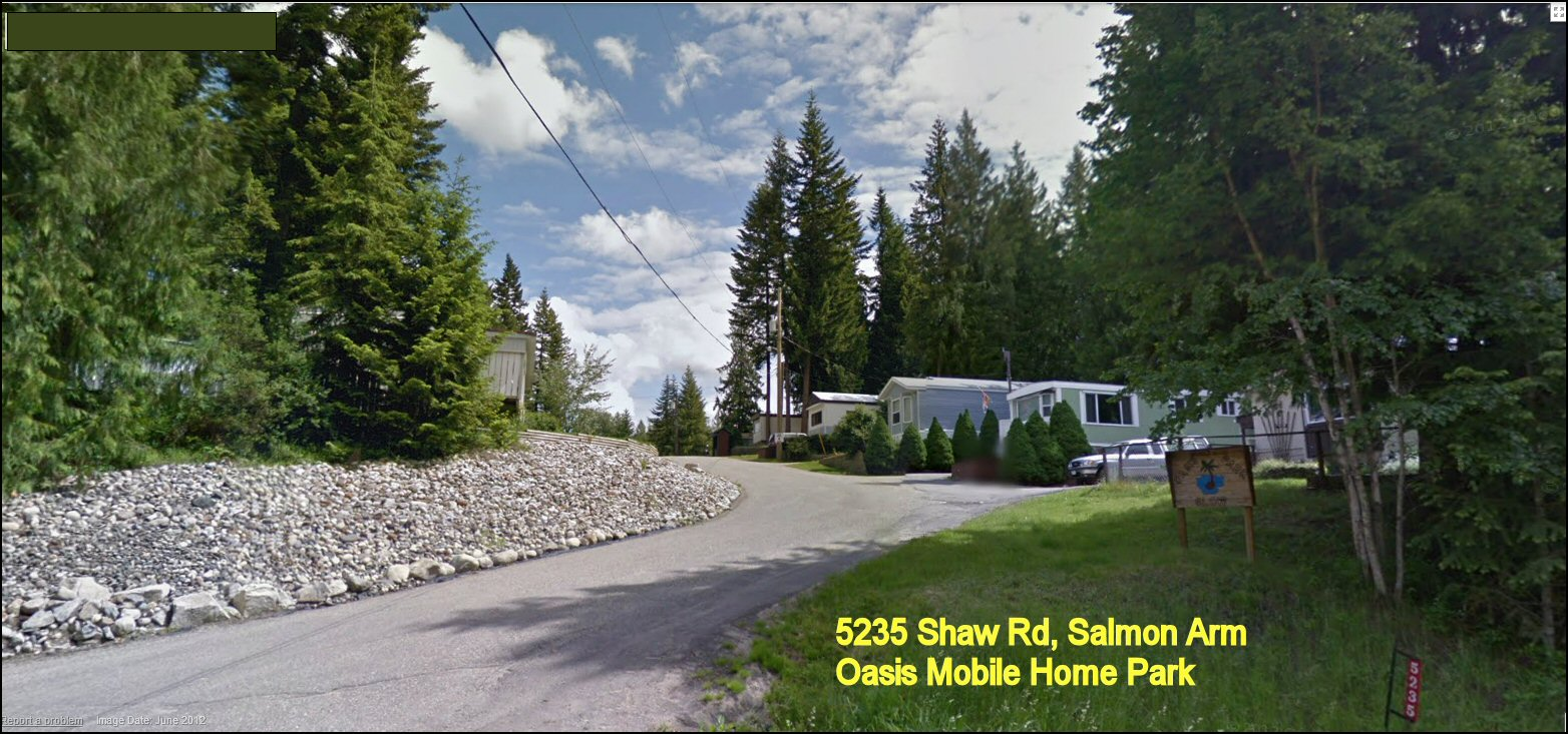 Oasis Mobile Home Park 5235 Shaw Rd Salmon Arm BC
